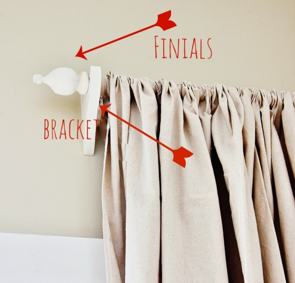 diy curtain rod Thistlewood Farms via Remodelaholic