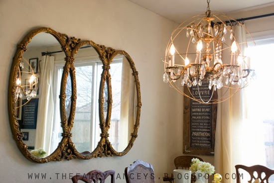 diy tutorial for restoration hardware crystal orb chandelier, Vintage Romance Style featured on Remodelaholic