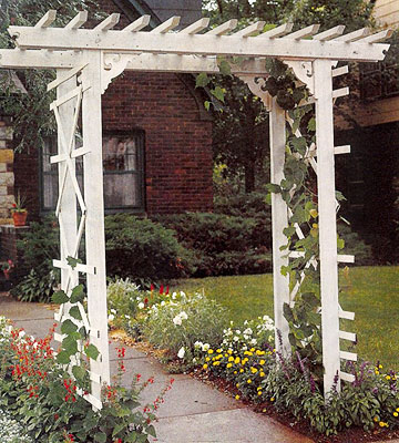 entry arbor for increasing curb appeal Remodelaholic
