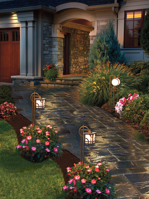 entry path lights for increased curb appeal