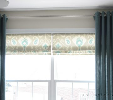 How to Create a Faux Roman Shade