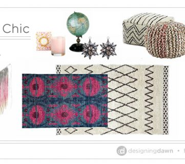 Bohemian Chic – Decorating with Texture & Pattern