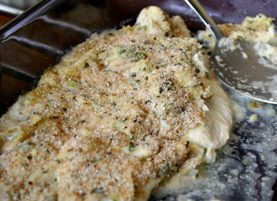 Artichoke Baked Fish Fillets