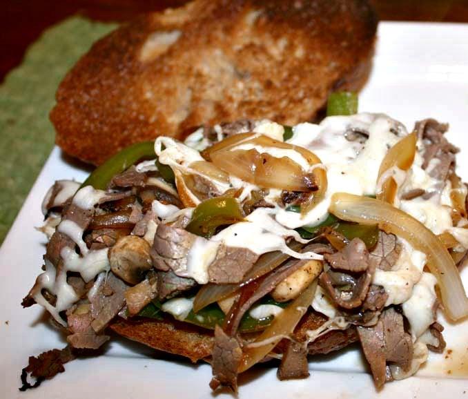 Healthy Philly Cheesesteak Sandwiches