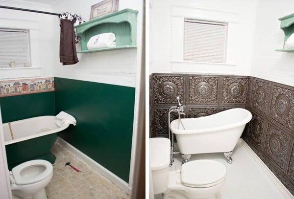 Bathroom Remodel | Reader projects featured on Remodelaholic.com #diy #remodelaholic