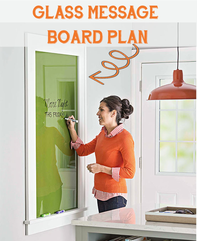use glass for a perfect dry erase message board and customize it with paint - Dry Erase Board Paint