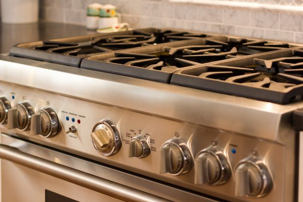 gorgeous new stove on Remodelaholic