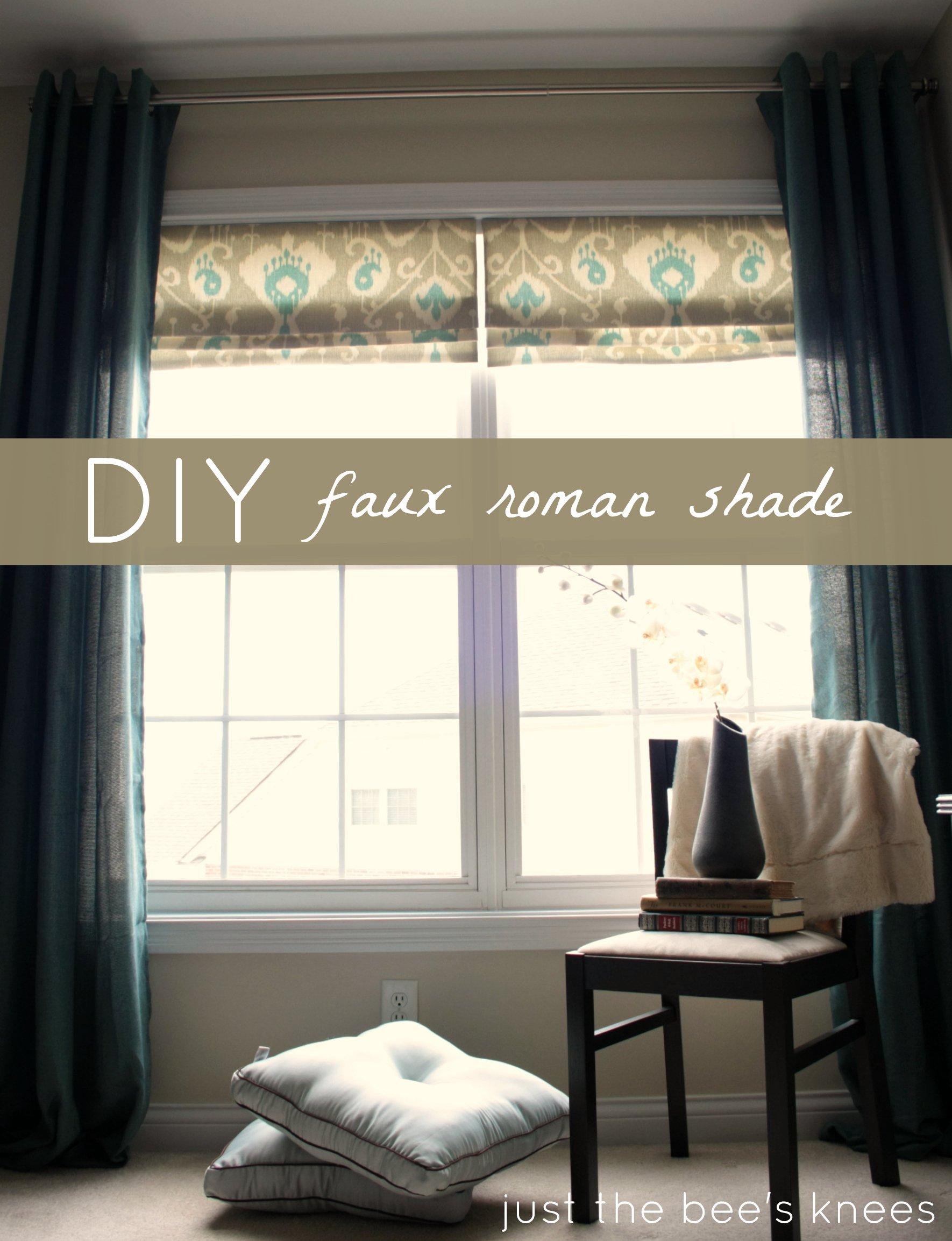 Faux Roman Shades Part - 20: Create A Faux Roman Shade Via Remodelaholic.com #AllThingsWindows  #windowshade