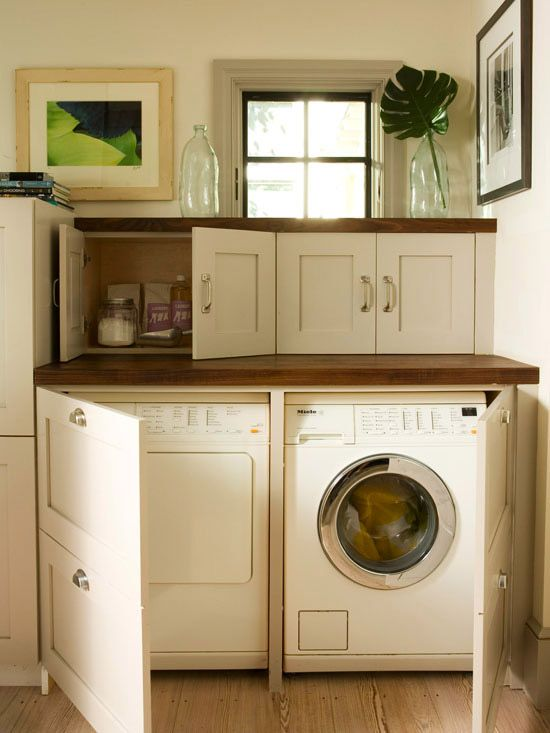 hidden machines great storage laundry room featured on Remodelahoilc.com