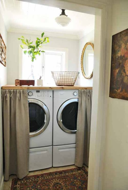 hidden washing machine without having to build it in featured on Remodelaholic.com