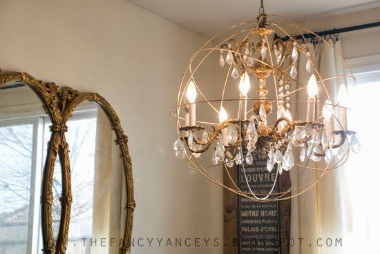 Trend Knockoff Crystal Orb Chandelier how to make a Restoration Hardware crystal orb chandelier Vintage Romance Style featured on Remodelaholic