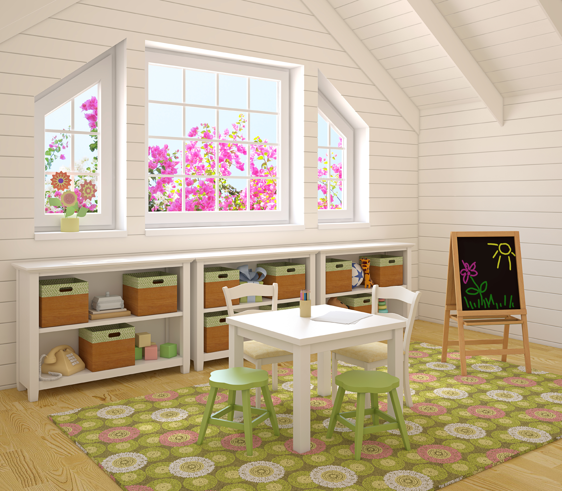Remodelaholic | 12 Fun and Functional Playroom Ideas