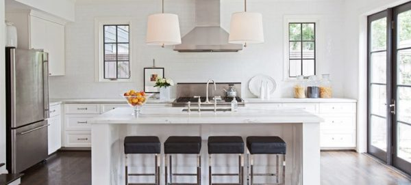 Decorating with White @Remodelaholic -- white kitchen