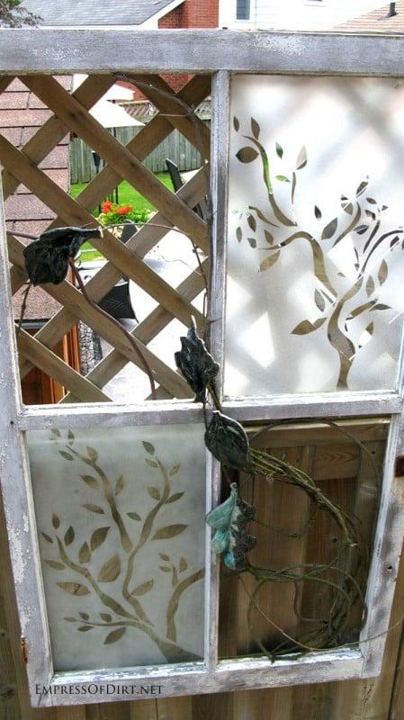 via Empress of Dirt - etched old window - via Remodelaholic