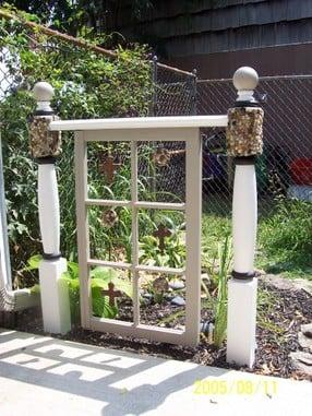 Old Window Greenhouse Diy Recycled Door