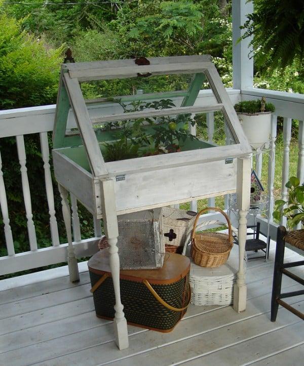 Window Greenhouse Insert Kitchen Window Greenhouses: 100 Ways To Use Old Windows
