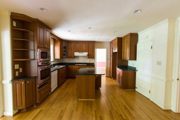 white kitchen renovation before on Remodelaholic