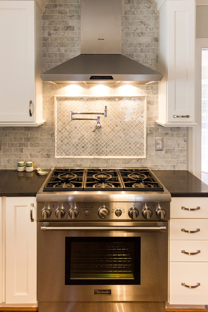White Kitchen 2014 white kitchens 2014 marble subway tile and backsplash over stove