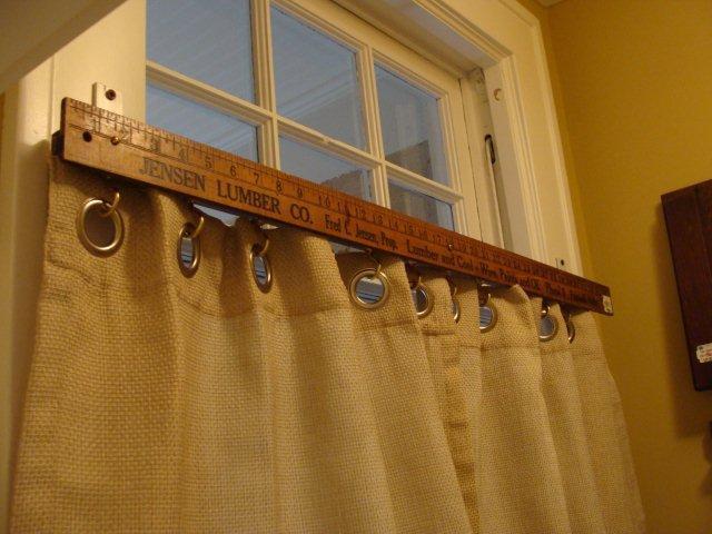 Yard Stick Curtain Rod Via Daffadown Dillys