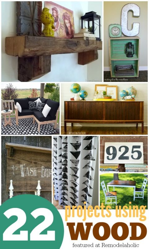 22 Wood DIY Projects @Remodelaholic