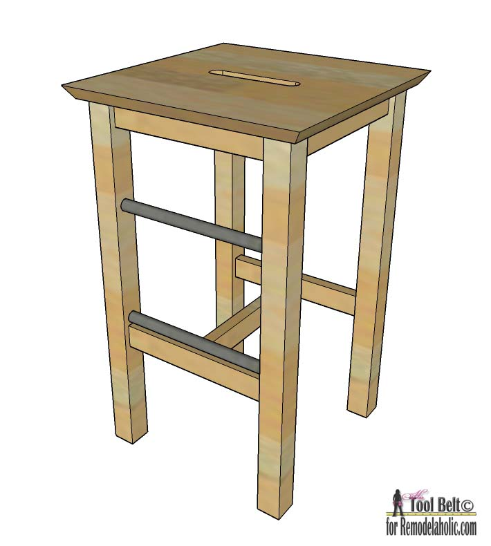 Easily build your own DIY bar stools with these free plans on Remodelaholic.com  sc 1 st  Remodelaholic & Remodelaholic | DIY Bar Stools with Metal Bar Accents islam-shia.org