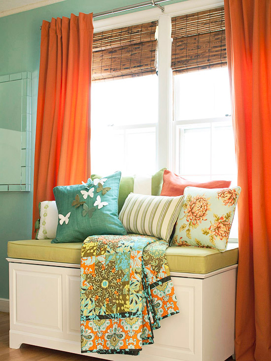 Curtains Ideas curtains for window seat : 20 Inspiring Window Seats | Remodelaholic | Bloglovin'