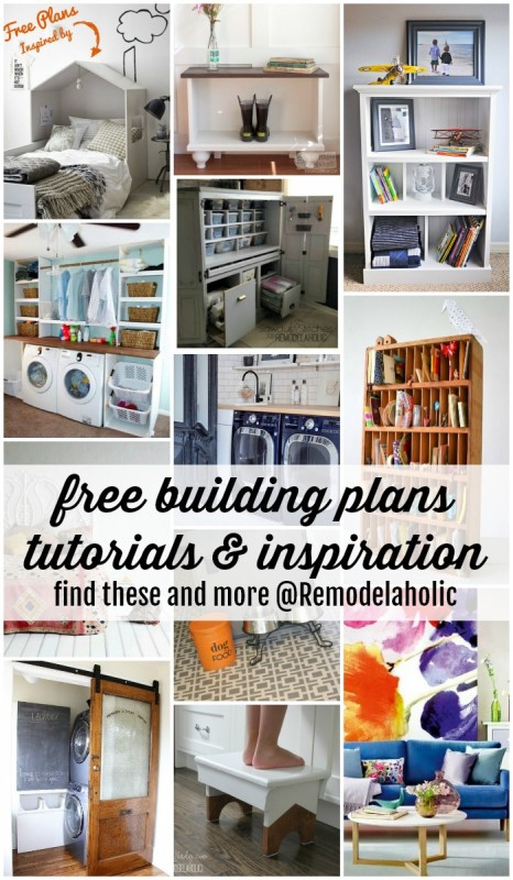 Building Plans and Tutorials @Remodelaholic