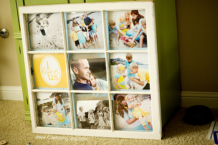 50 window projects - Window Pane Picture Frame