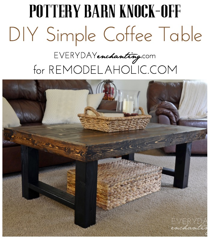 DIY Simple Coffee Table | Learn how to build a wood slab coffee table ...