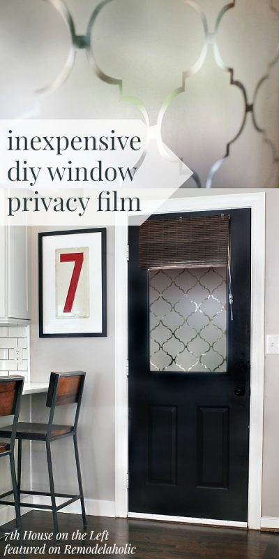 Diy window privacy film using contact paper for Make your own stained glass window film