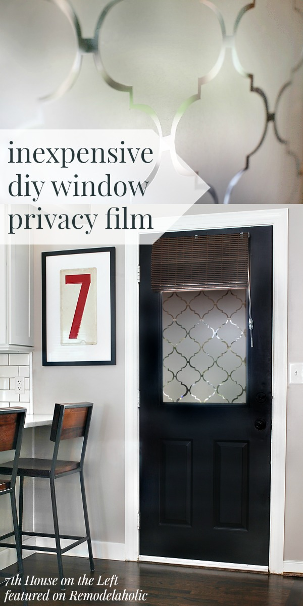 Remodelaholic Diy Window Privacy Film Using Contact Paper