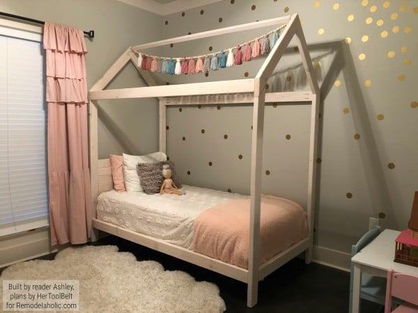 DIY House Bed Frame On Remodelaholic