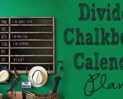 Divieded Chalkboard Calendar feature