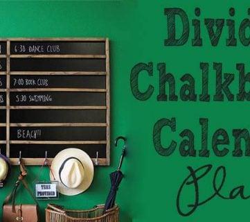 Build a Divided Chalkboard Calendar