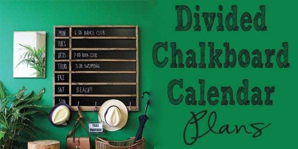 Divieded Chalkboard Calendar
