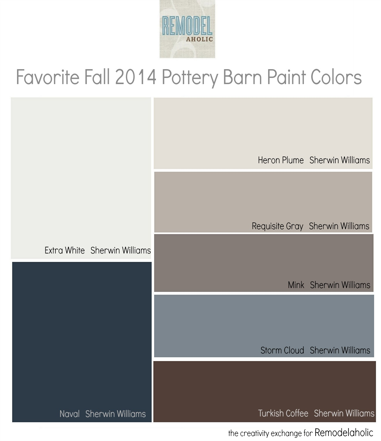 Remodelaholic favorites from the fall pottery barn paint for Top 10 living room paint colors 2014