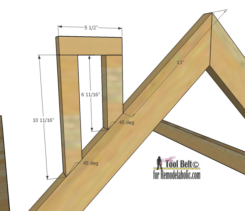 Remodelaholic house frame twin bed building plan for Plans to build a house