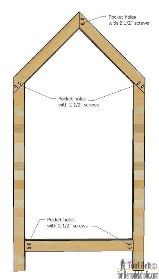 Remodelaholic House Frame Twin Bed Building Plan