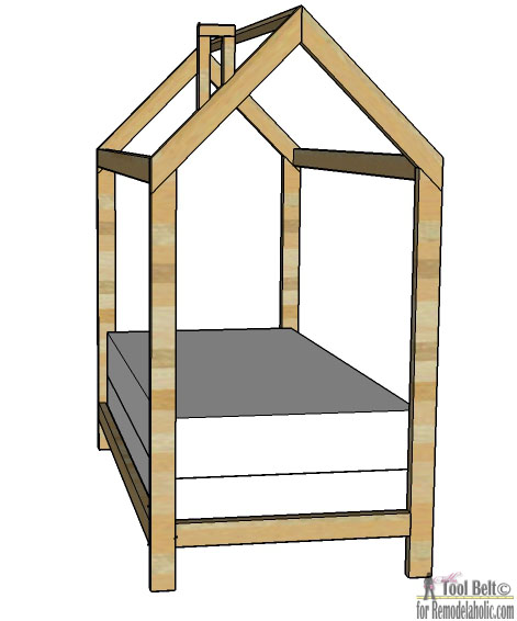 Twin House Bed Frame or Floor Bed