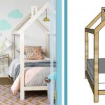 House frame bed feature