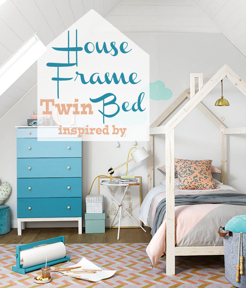 free plans to build a kids bed inspired by this unique house frame twin bed - Kids Bed Frame