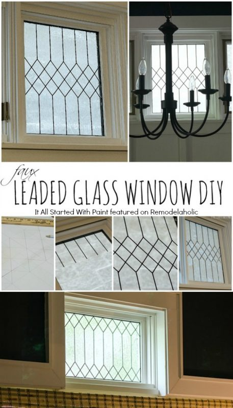 How To Diy Faux Leaded Glass Windows Remodelaholic