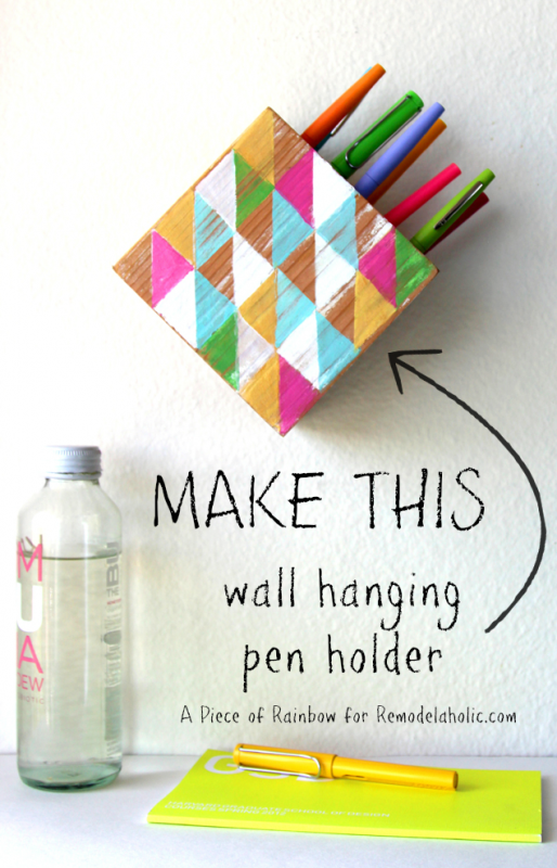 How to Make a Modern Wall Hanging Pen Holder @Remodelaholic