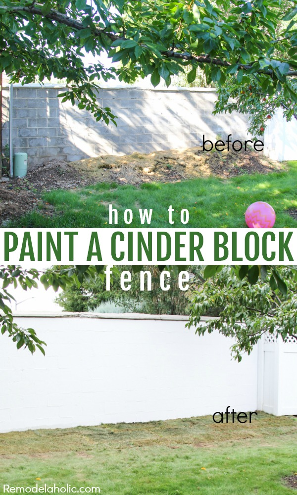 Painting Cinder Block - Cinder block wall fence ideas