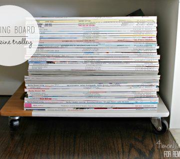 DIY Magazine Trolley