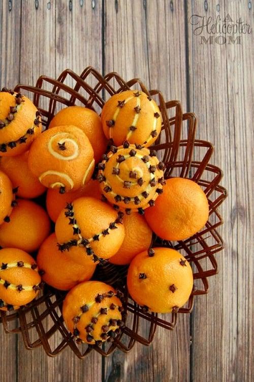 Mandarins and Cloves centerpiece