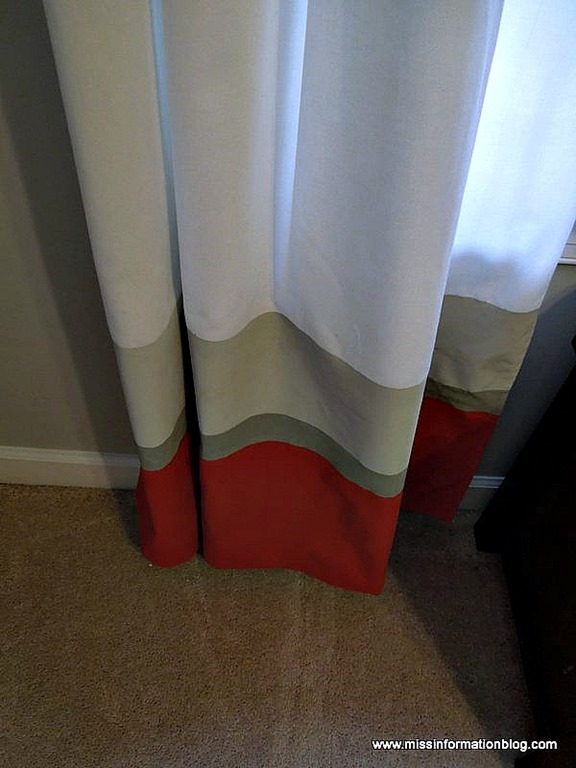 Miss Information - striped painted curtain diy - via Remodelaholic