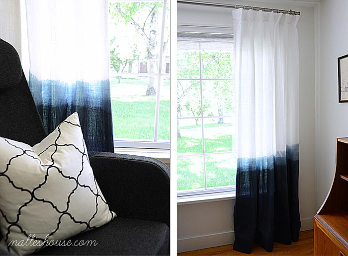 Fabulous Nalle us House on menlady dip dyed ombre curtains via Remodelaholic