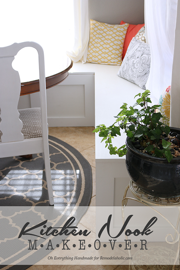 Make Over A Kitchen Nook By Adding A Banquette Bench! Built It With Oh  Everything