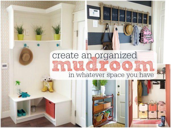 Organized Mudroom Title